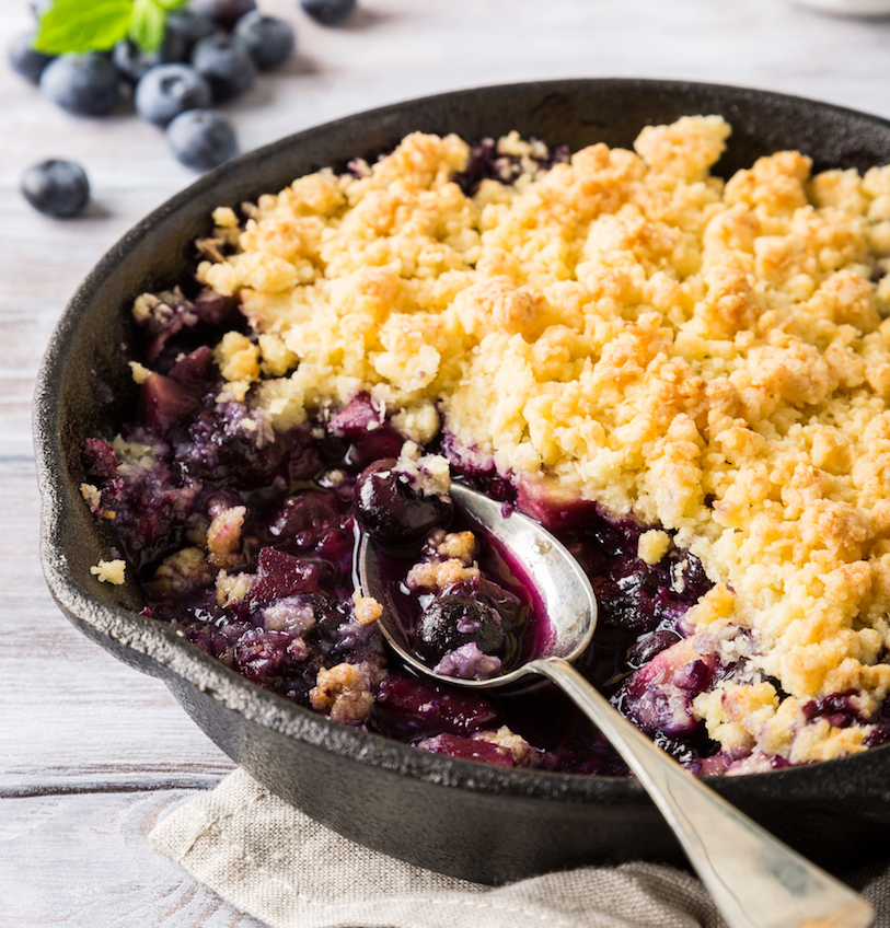 Coconut,Crumble,Blueberry